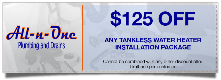Coupons. Discount on Tankless Water Heater Installation
