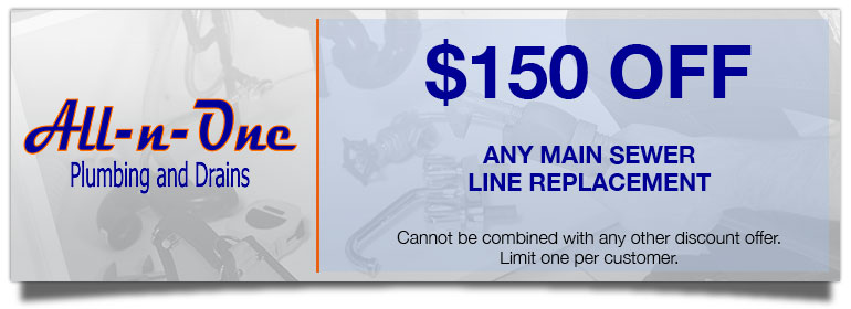 Discount on Main Sewer Line Replacement