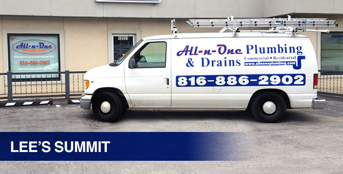 Lee's Summit plumber service van.